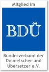 Mitglied im BDÜ - Member of BDÜ